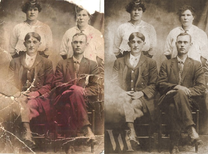 Photo Restoration - Example