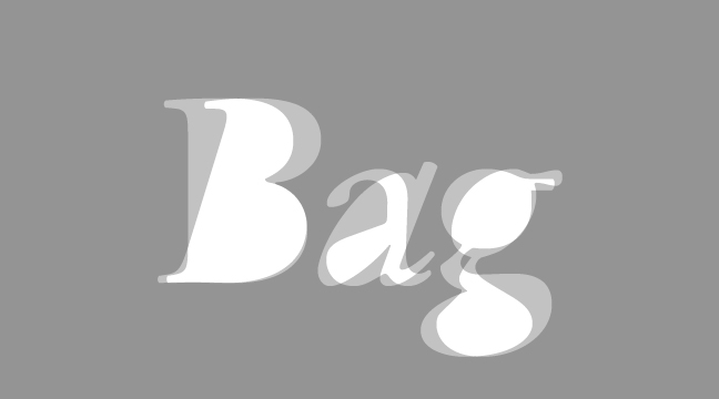 Bag---regular-+-italic---letterform-outline---wmiii