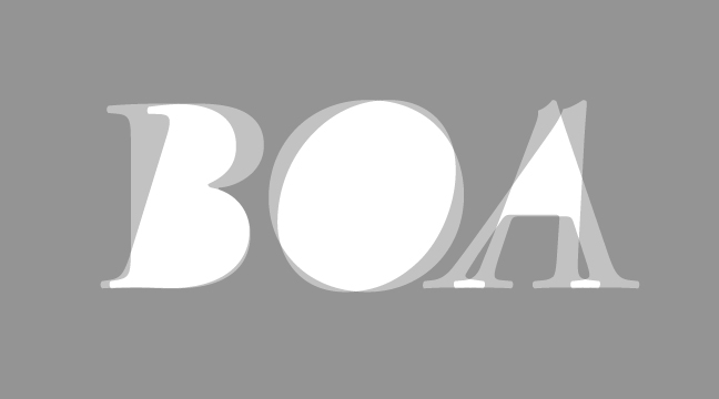 BOA - regular + italic - letterform outline - wmiii.co